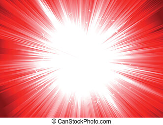 Christmas Starburst - Illustration of a christmas shiny...