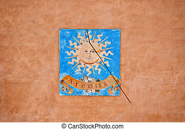 Sundial - the winter solstice - Sundial of the typical south...