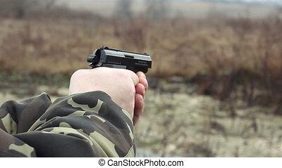 shot with a gun