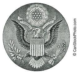 E Pluribus Unum Seal on the US Dollar Bill