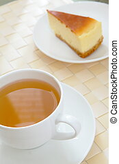 Happiness afternoon tea with cake - Tea and cake calm down...