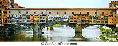 Ponte Vecchio - Famous bridge Ponte Vecchio in Florence,...