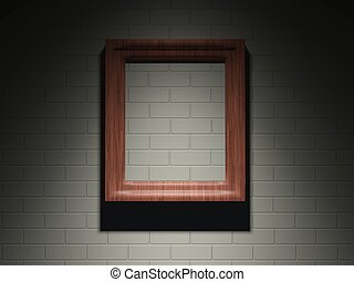 Frame on a brick wall