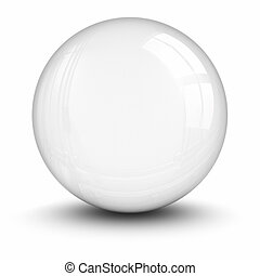 Crystal ball. clipping path included.