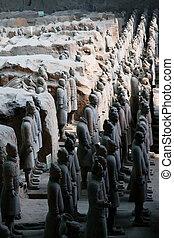 terracotta warriors - statue of terracotta warriors found in...