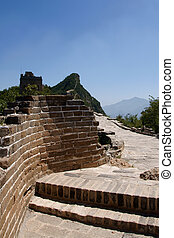 Famous great wall at Simatai near Beijing, China