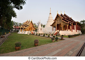 Temple - Thai lanna temple at Chiangmai province Thailand