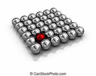 Individuality - magnetic balls.