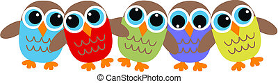 owl header - colorful owl header
