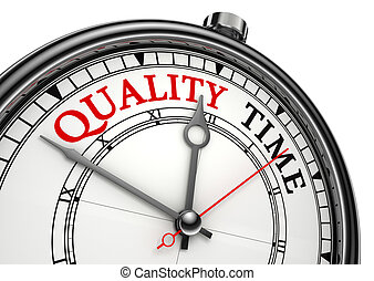 quality time concept clock closeup isolated on white...