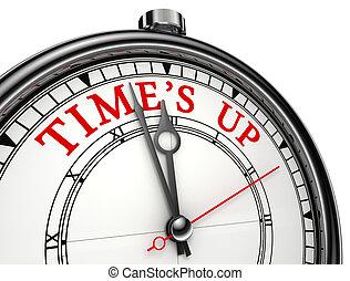 time is up concept clock - Time is up concept clock closeup...