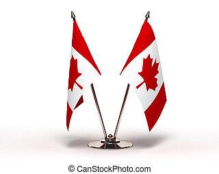 miniatura, bandeira, Canadá