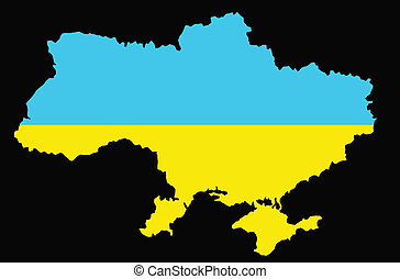 Ukraine map - Vector map of Ukraine Eps8