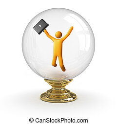 Crystal ball - Business Success. clipping path included.
