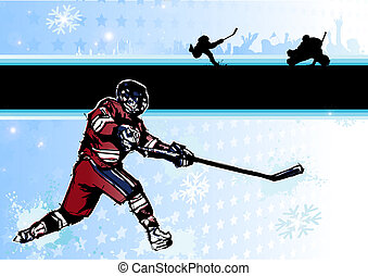 ice hockey background 2 - illustration of the ice hockey...
