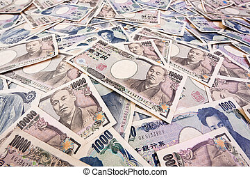 yen bills from japan - japanese yen, the currency notes from...