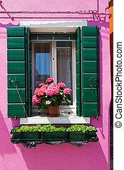 italy, venice. island of burano - the lovely city of venice...