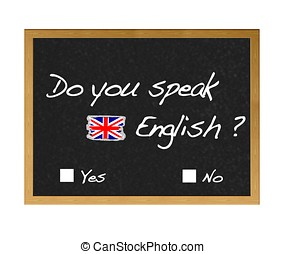 English. - Do you speak english.