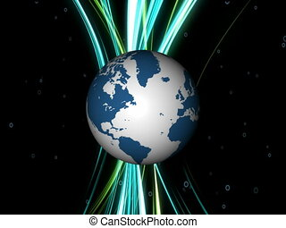 Earth globe rotation