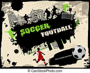 Urban soccer background - Urban grunge soccer background,...