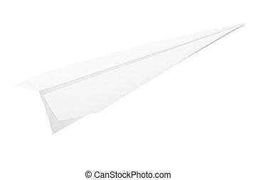 Paper plane isolated on white background, clipping path...