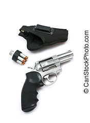 .357 revolver - .357 caliber revolver,holster and speed...