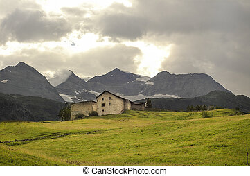Bernina (Switzerland) - Mountain landscape at Bernina...