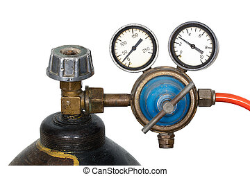 Gas pressure regulator with manometer isolated - Gas...