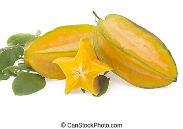 Starfruit, carambola isolated on white background