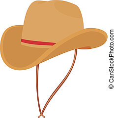Hat of the cowboy A mans hat A fashionable hat A beautiful...