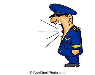 Air Force Cartoon Shouting - Air Force Cartoon Character...