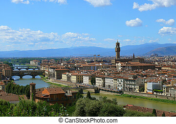 firenze - Panorama of Florence from the hill