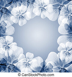 flower frame with copy space