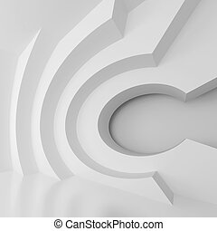Abstract Geometric Background - 3d Illustration of White...