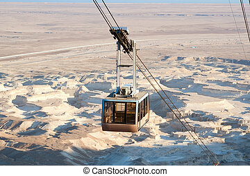 Cable car - A cable car to Masada fortress, Israel