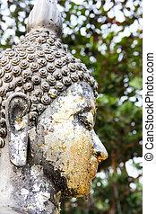 Statues of Buddhas religionWatSamarn,Chachaengsao,Thailand