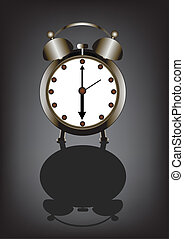 alarmclock - Retro alarm clock in the vector