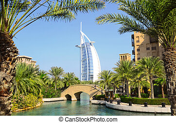 Burj Al Arab in Dubai, UAE - Burj Al Arab and Madinat...