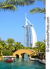 Burj Al Arab, Dubai - View at hotel Burj al Arab from...