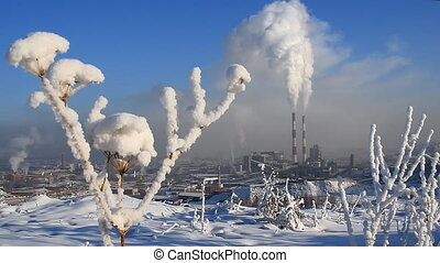 Power Station 14 - Chimneys of a power station
