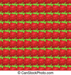 Vector seamless pattern of strawberry - Vector seamless...