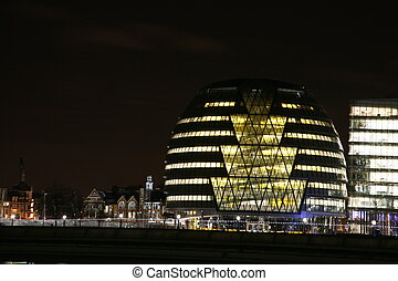 London City Hall at Night - LONDON - January 26, 2012 :...