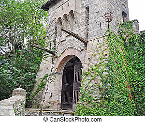 drawbridge - italian castle drawbridge surrounded by...
