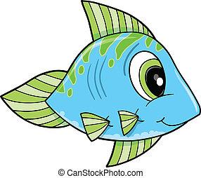 Blue Fish Vector Illustration