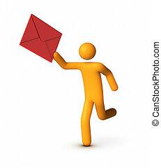 Delivering Envelope