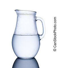 Pitcher of cold water - Pitcher of clear cold water isolated...