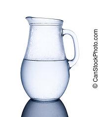 jarro, gelado, água