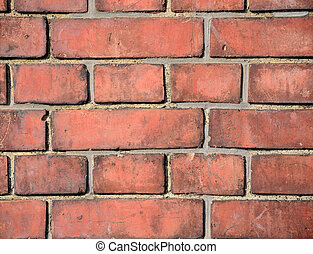 Brick walls. The wall of the red brick of an old building.
