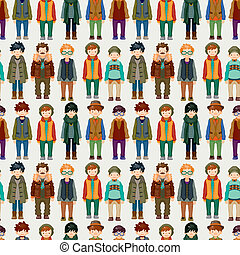 seamless young boy pattern