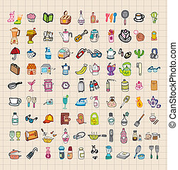 hand draw home stuff set